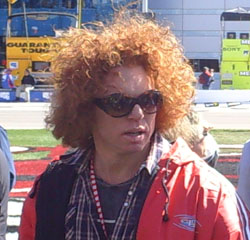 Prop Comic Carrot Top (Photo Credit: The Fast and the Fabulous/Valli Hilaire)