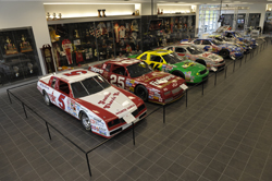 Hendrick Motorsports has reopened its 15,000-square-foot museum. Featured currently are cars driven by Geoff Bodine, Tim Richmond, Ken Schrader and Ricky Hendrick, among others. (Courtesy Hendrick Motorsports)