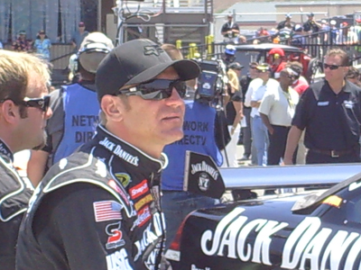 Clint Bowyer sits on pit road before teh start of the Toyota/Save Mart 350 at Infineon Raceway