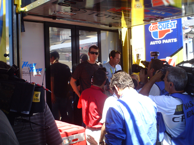 Kyle Busch meets with the media at Infineon Raceway (photo credit: The Fast and the Fabulous)