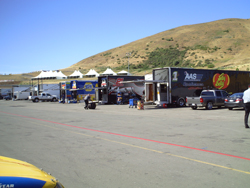 Haulers during a testing session at Infineon Raceway (Photo Credit: The Fast and the Fabulous)