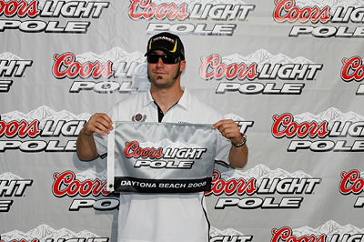 Sprint Cup driver Paul Menard earned his first pole Friday at Daytona International Speedway for Saturday's Coke Zero 400 Powered by Coca-Cola (Photo Credit: Jason Smith/Getty Images for NASCAR)