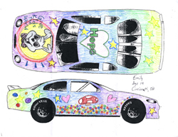 Give Kids The World Design Tony's Old Spice car contest winning entry by Emily Marsala