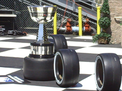 The Magic Circles and the IndyCar Championship trophy (photo credit: The Fast and the Fabulous)