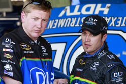 J.J. Yeley (right) and crew chief Steve Boyer at Phoenix this year (photo credit: Getty Images for NASCAR)
