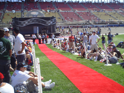 The red carpet is rolled out at the Auto Club Speedway (photo credit: The Fast and the Fabulous)