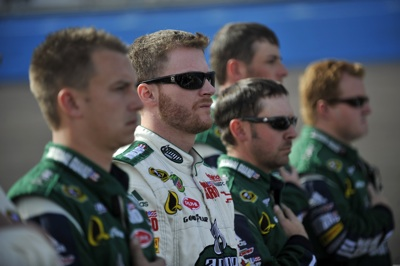 Dale Earnhardt Jr., driver of the No. 88 AMP Energy/National Guard Chevrolet, started fifth and finished sixth during the NASCAR Sprint Cup Series event at Phoenix International Raceway on Sunday. (Courtesy Hendrick Motorsports)