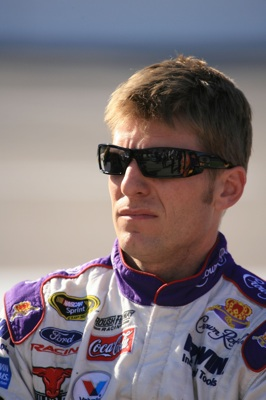 Jamie McMurray, driver of the #26 Crown Royal Ford, stands on the grid during qualifying for the NASCAR Sprint Cup Series Dickies 500 at Texas Motor Speedway on October 31, 2008 in Fort Worth, Texas. (Photo by Jerry Markland/Getty Images for NASCAR)
