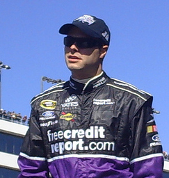 David Gilliland at Las Vegas Motor Speedway in March 2008 (photo credit: Valli Hilaire/The Fast and the Fabulous)