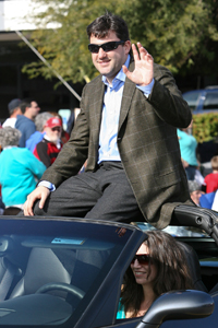Tony Stewart at the 38th Annual Fort McDowell Fiesta Bowl Parade presented by Fort McDowell Yavapai Nation