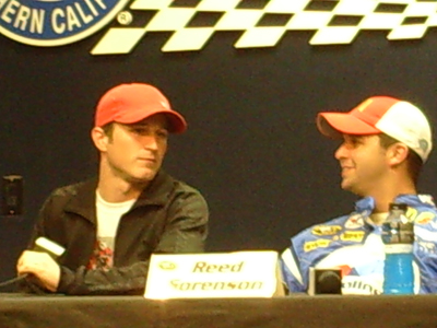 Kasey Kahne and Reed Sorenson (credit: The Fast and the Fabulous)