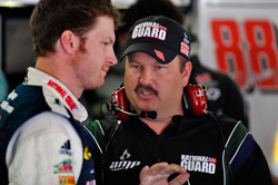 Dale Earnhardt Jr., driver of the No. 88 National Guard/AMP Energy Chevrolet, started Monday's rescheduled 600-mile event at Lowe's Motor Speedway in 27th and finished 40th. (Courtesy Hendrick Motorsports)