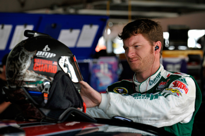 Dale Earnhardt Jr., driver of the No. 88 AMP Energy/National Guard Chevrolet, finished 12th at Dover (Del.) International Speedway and improved to 18th in the driver standings. (Courtesy Hendrick Motorsports)