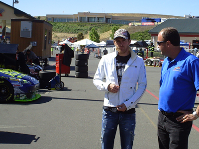 Scott Speed at Infineon Raceway on Friday, June 19, 2009 (photo credit: The Fast and the Fabulous)
