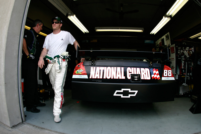 Dale Earnhardt Jr., driver of the No. 88 AMP Energy/National Guard Chevrolet, scored his best start of the season during Sunday's Brickyard 400, lining up third for the NASCAR Sprint Cup Series event. (Courtesy Hendrick Motorsports)