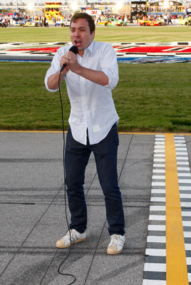 One of the season's most animated command for drivers to start their engines came from actor and NBC