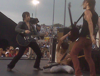The All-American Rejects performed before the start of the Chevy Rock & Roll 400 at Richmond International Raceway. (Photo Credit: Andrew Giangola)