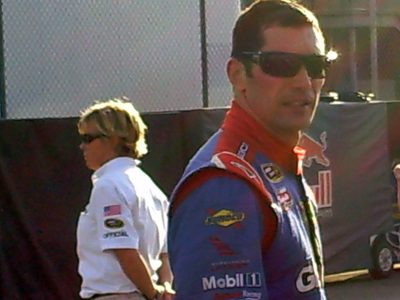 Max Papis after qualifying on Friday, October 9, 2009 at Auto Club Speedway in Fontana, CA (photo credit: The Fast and the Fabulous)