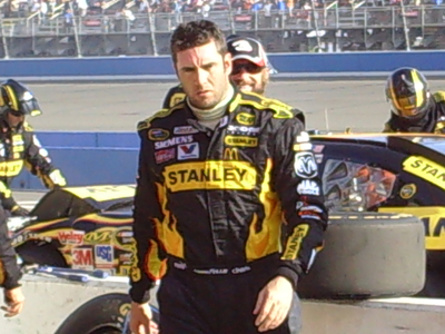 Part Two: Elliott Sadler leaves his wrecked car behind on pit road during the final laps of the Pepsi 500 on Sunday, October 11, 2009 at Auto Club Speedway in Fontana, CA (photo credit: The Fast and the Fabulous)