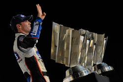 Jimmie Johnson, driver of the No. 48 Lowe's Chevrolet, scored his fourth straight NASCAR Sprint Cup championship after finishing fifth on Sunday at Homestead-Miami Speedway. (Courtesy Hendrick Motorsports)