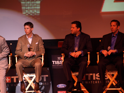 Denny Hamlin, Tony Stewart and Greg Biffle (photo credit: The Fast and the Fabulous)