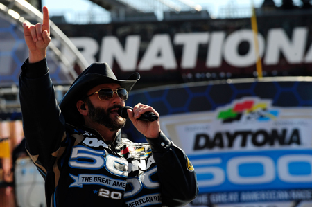 Tim McGraw performed a pre-race concert for the fans during his first trip to Daytona International Speedway.(Credit: Sam Greenwood/Getty Images)