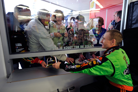 Mark Martin, driver of the No. 5 GoDaddy.com Chevrolet, started eighth and finished fourth at Las Vegas Motor Speedway on Feb. 28. (Courtesy Hendrick Motorsports)