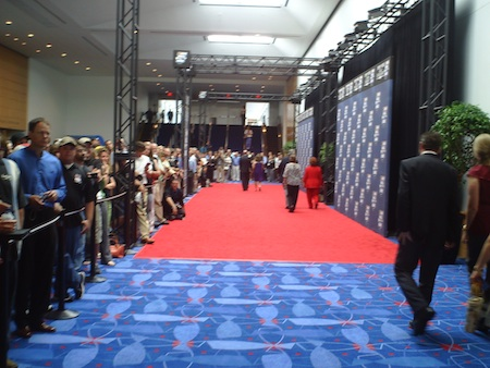Red Carpet at the NASCAR Hall of Fame Induction Ceremony