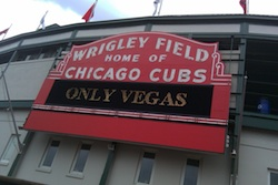 Wrigley Field in Chicago, the site of Blogs with Balls 3