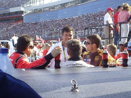 (left to right) Tony Stewart, Bobby Labonte, Michael Waltrip, and David Ragan (photo credit: The Fast and the Fabulous)
