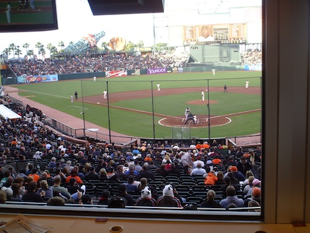 My view from the press box at AT&T Park