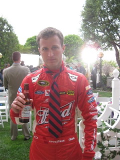 Kasey Kahne behind the scenes of the Gillette Fusion ProGlide commercial Wedding Crashers