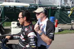Helio Castroneves at Edmonton 2010