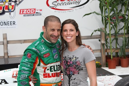 Tony Kanaan and Lauren Bohlander