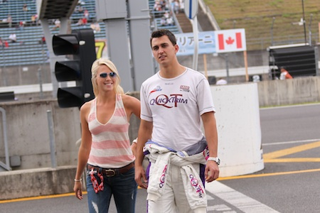 Graham Rahal and his girlfriend Katie Osbourne