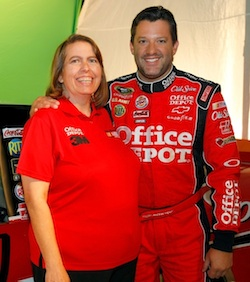 Rose Berger with Tony Stewart