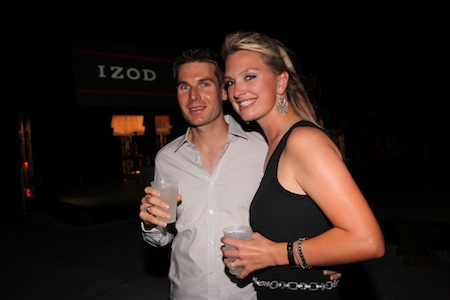 Will Power and his fiancee, Liz Cannon