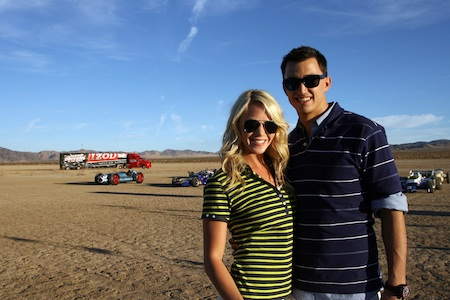 Graham Rahal and Katie Osbourne
