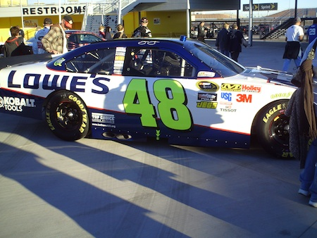 The No. 48 Lowe's Chevrolet