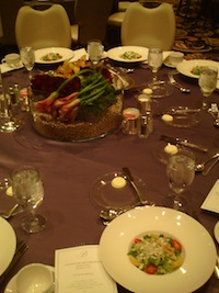 2010 NMPA Myers Bros. Awards Luncheon table setting