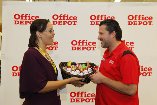This is me presenting the 2011 Hottest Driver Award to Tony Stewart