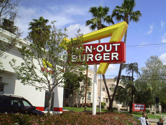In-N-Out Burger in Hollywood