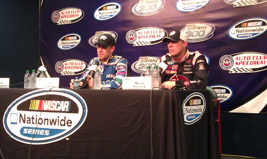 Carl Edwards and Kevin Harvick post-race press conference for the Royal Purple 300