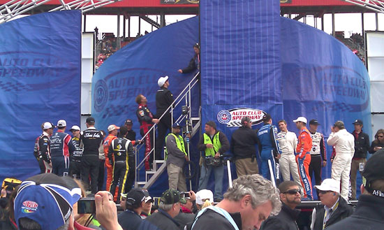 Backstage at Nationwide Series Royal Purple 300 driver introductions