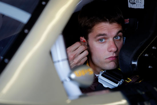 David Ragan, driver of the No. 6 UPS Freight Ford, sits in his car during practice for the NASCAR Sprint Cup Series Samsung Mobile 500 at Texas Motor Speedway on Apr. 7 in Fort Worth, Texas. (Credit: Todd Warshaw/Getty Images for NASCAR)
