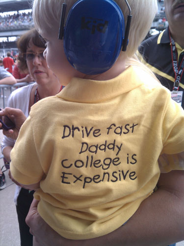 Ed Carpenter's son, Ryder, sends his dad a message