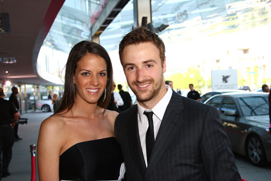 James Hinchcliffe and his date Melissa