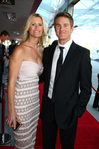 Ryan Hunter Reay and his fiancee Beccy Gordon
