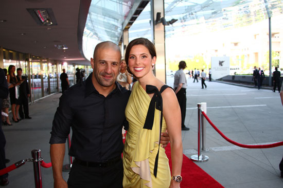 Tony Kanaan and his girlfriend Lauren Bohlander