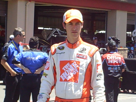 Joey Logano, the eventual polesitter for the Toyota/Save Mart 350